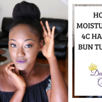 How I Moisturize My Hair & Bun Tutorial